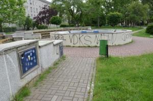 Fontanna przy Placu Piłsudskiego