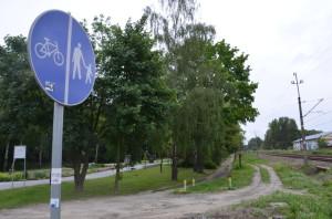 Planowana ścieżka rowerowa wzdłuż torów wParku Miejskim