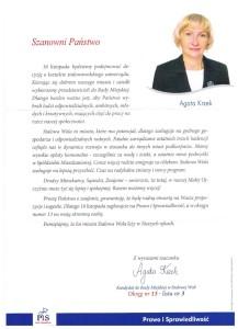 List dowyborców radnej