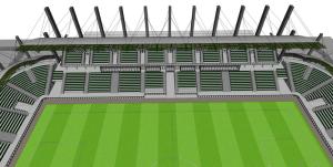 Projekt stadionu wStalowej Woli