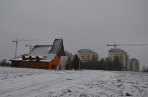Obecna drewniana Kaplica przy ulicy Architektów