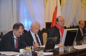 Od lewej: Waldemar Szumny, Andrzej Dec, Konrad Fijołek, Tadeusz Ferenc