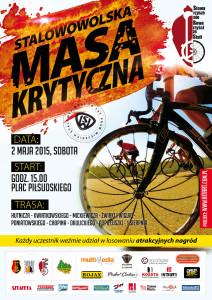 Oficjalny plakat Stalowowolskiej Masy Krytycznej organizowanej przez Stowarzyszenie Rowerzyści zeStali