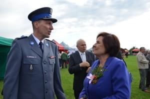 Renata Butryn (PO) zKomendantem Policji Lucjanem Maczkowskim
