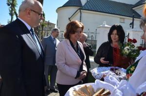Powitanie wWielopolu Skrzyńskim