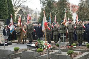 """Narodowy Dzień Pamięci """"Żołnierzy Wyklętych"""" wDębicy. Zdj. UM"""