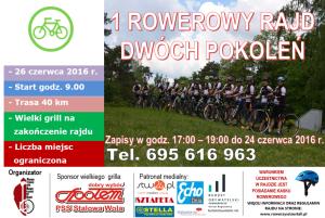 Stowarzyszenie Rowerzyści zeStali zaprasza naRajd rowerowy dwóch pokoleń