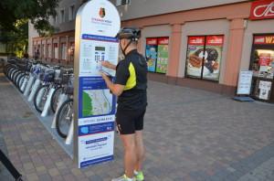 Z otrzymanym PINem idziemy dostacji rowerowej, tam wpisujemy swój nrtelefonu iPIN, anastępnie logowanie dosystemu.