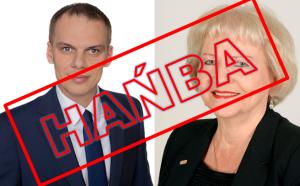 Parlamentarzyści zeStalowej Woli: Janina Sagatowska iRafał Weber - głosowali niezgodnie zKonstytucją. Złamali prawo.